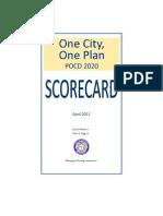 One City, One Plan Scorecard