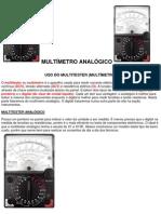Como usar o Multimetro Analógico