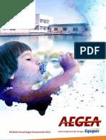 Relatório Anual Aegea Saneamento 2012. (MZ Group)