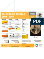 Calendario oficial de la SEP 2008-2009 Incluye Infuelza H1N1