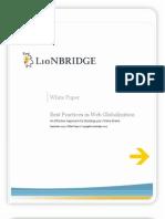 Web Globalization Best Practices