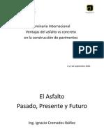 2.- IMPORTANCIA HISTÓRICA - PRESENTE Y FUTURO DEL ASFALTO