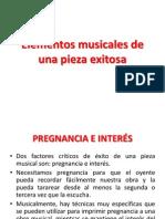 Elementos Musicales de Una Pieza Musical Exitosa