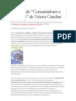 """Resenha de """"Consumidores e Cidadãos"""" de Néstor Canclini"""