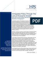 Immigration Policy Through The Lens of Economic Growth