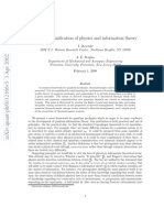 Towards a Unification of Physics and Information Theory (WWW.OLOSCIENCE.COM)