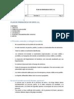 Plan de Emergencia Esfel s.A