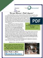 february 09 not your mommas faith anymore newsletter