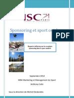 thèse sponsoring et sport outdoor