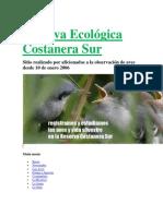 Reserva Ecológica Costanera Sur- AVES