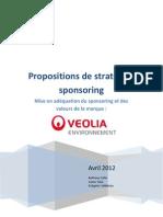 Synthése stratégie sponsoring Veolia