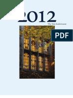 Yale Endowment Report2012