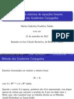 método iterativo do gradiente conjugado