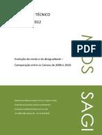 Evolução da renda e da desigualdade - comparação entre os Censos de 2000 e 2010
