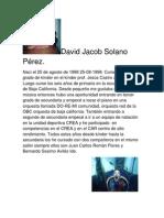 David Jacob Solano                                                                       Pérez
