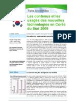 Contenus et usages des nouvelles technologies en Corée du Sud 2009