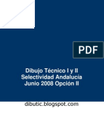 Selectividad Andalucía Dibujo Técnico Junio 08 Opción II