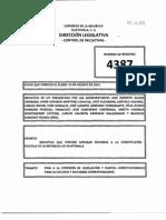 Iniciativa de Ley 4387 Que Reforma La Constitución Política de la República de Guatemala.