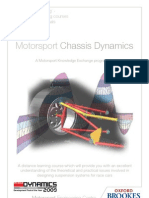Distance Learning - Motorsport - Chassis Dynamics
