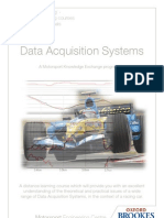 Distance Learning - Motorsport - Data Acquisition Systems