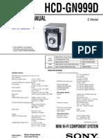 Sony Hcd-gn999d Mhc-gn999d Gn999ds Ver-1.0 Sm