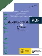 INSHT Guía Técnica Manip. Manual de Cargas