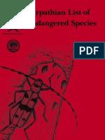 Carpathian  List of Endangered Species