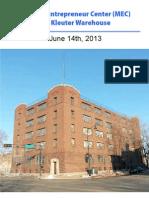 Madison Entrepreneur Center Project Overview 061413