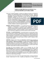 Acta de Acuerdos Entre Pvn y Mun. Limatambo