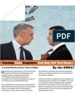 Cussing Your Employee Out May Get You Sued...by the OSHA