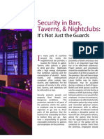 Security in Bars, Taverns, And Nightclubs - It's Not Just the Guards