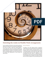 Stretching the Limits on Flexible Work Arrangements
