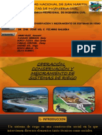 OPERACION, CONSERVACION Y MEJORAMIENTO SISTEMA DE  RIEGO.ppt