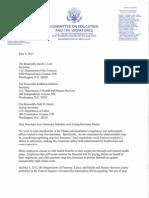 06-06-13 Letter to Lew Sebelius Harris-stop Loss Insurance