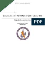 Comunicación entre PLC y LabView 2012
