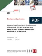 Ip Audio Module 300 Dev Spec v0102