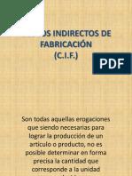 COSTOS INDIRECTOS DE FABRICACIÓN