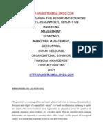 Responsilbility Accounting