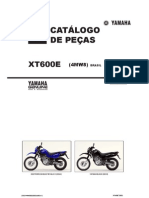 Yamaha XT600E Parts Catalogue Portuguese