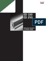 Dorma ED100 250 TechnicalLeaflet
