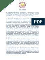 Comunicado CEE Enfermeria UA - Marcha 31 de Julio