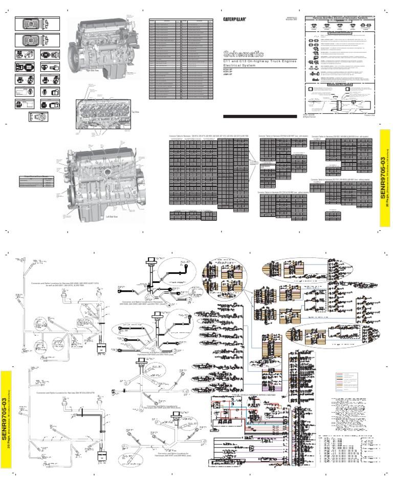 diagrama electrico del motor c11 c13 caterpillar rh es scribd com Cat Ecm Pin Wiring Diagram Cat C15 Truck Engine Diagram