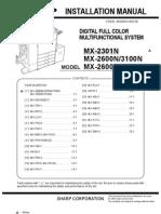 MX2600 MX3100 Installation 3E