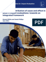 Addressing Attribution of Cause and Effect in Small n Impact Evaluations. Towards an Integrated Framework