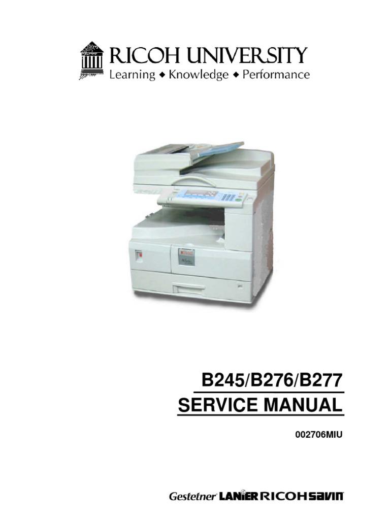b245 b276 b277 service manual rfg022973 photocopier ac power rh scribd com Ricoh 3320L Fax Machine Ricoh Fax Machine