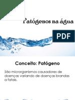 Patógenos na água