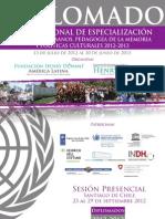 Diplomado Memoria 2012
