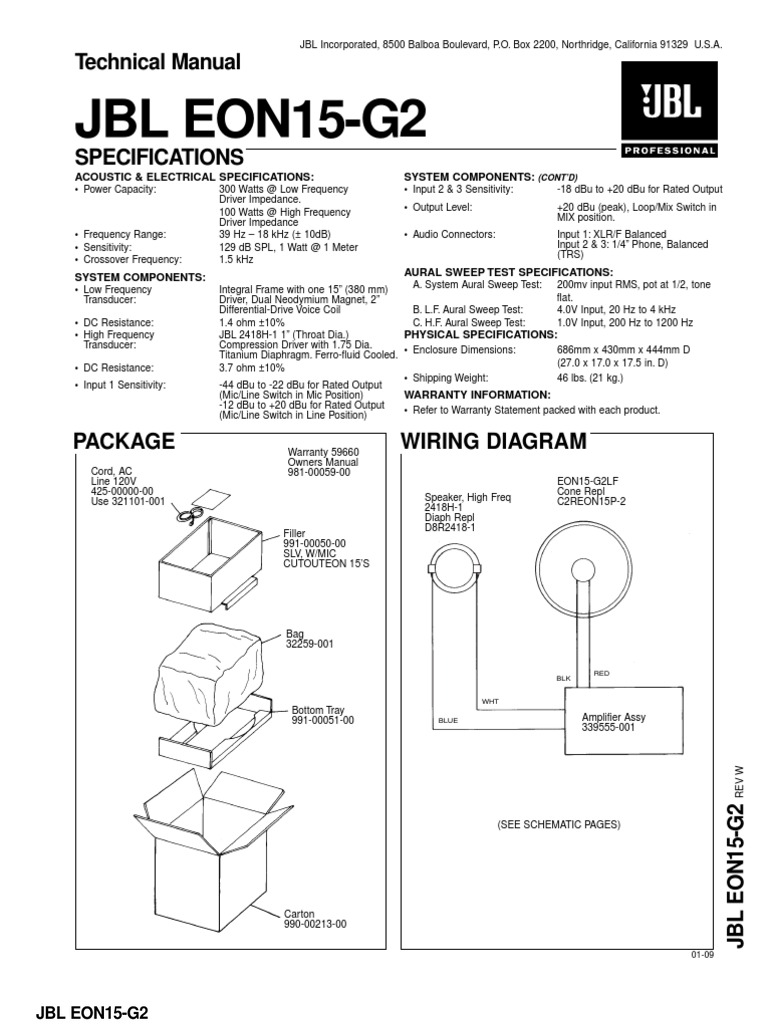 eon 15 g2 service manual microphone decibel rh scribd com JBL EON 615 JBL EON 210