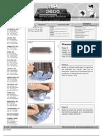 Hp2600tech_s Manual de Recarga