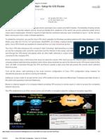 Cisco VPN Client Configuration - Setup for IOS Router